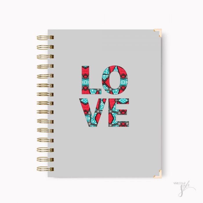 Love notebook journal, Love African print notebook journal