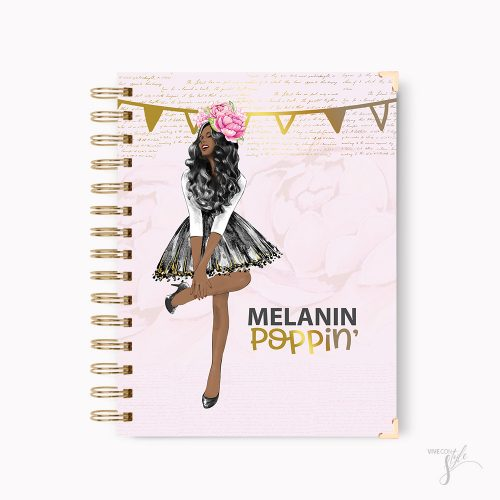 Melanin poppin notebook journal