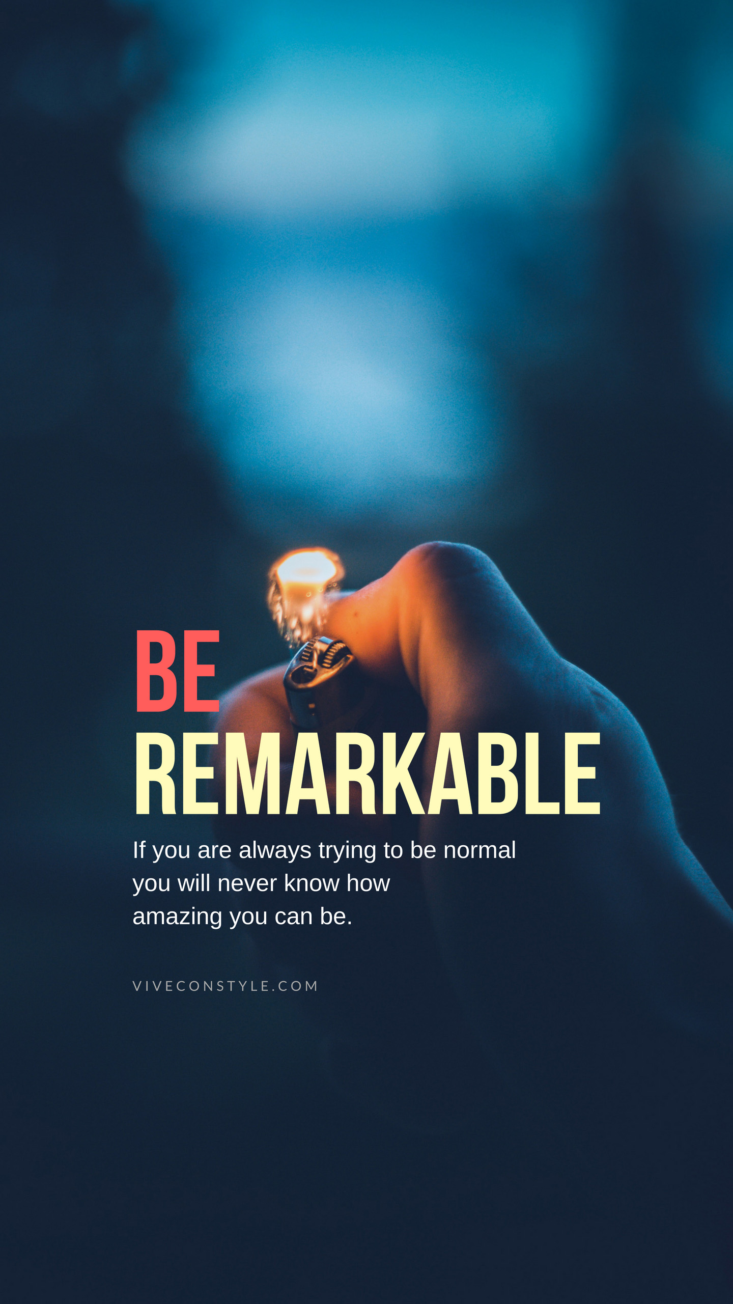 Be remarkable quotes mobile wallpaper