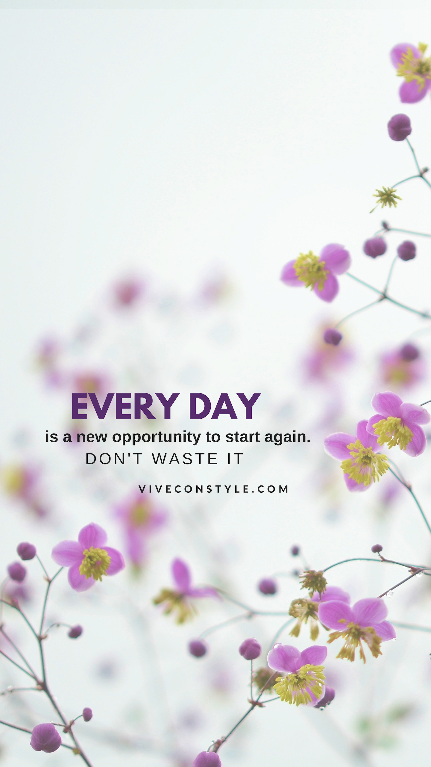 Every day is a new opportunity