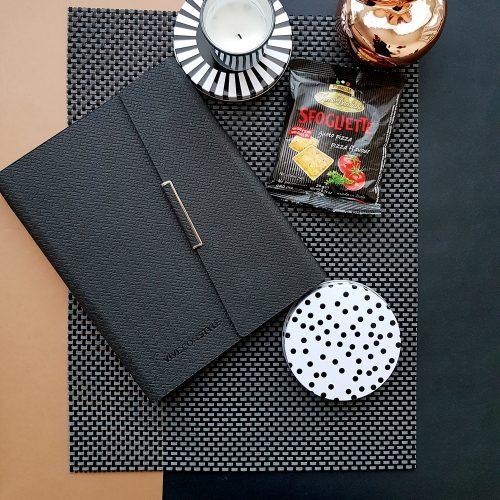 BLACK planner binder - undated