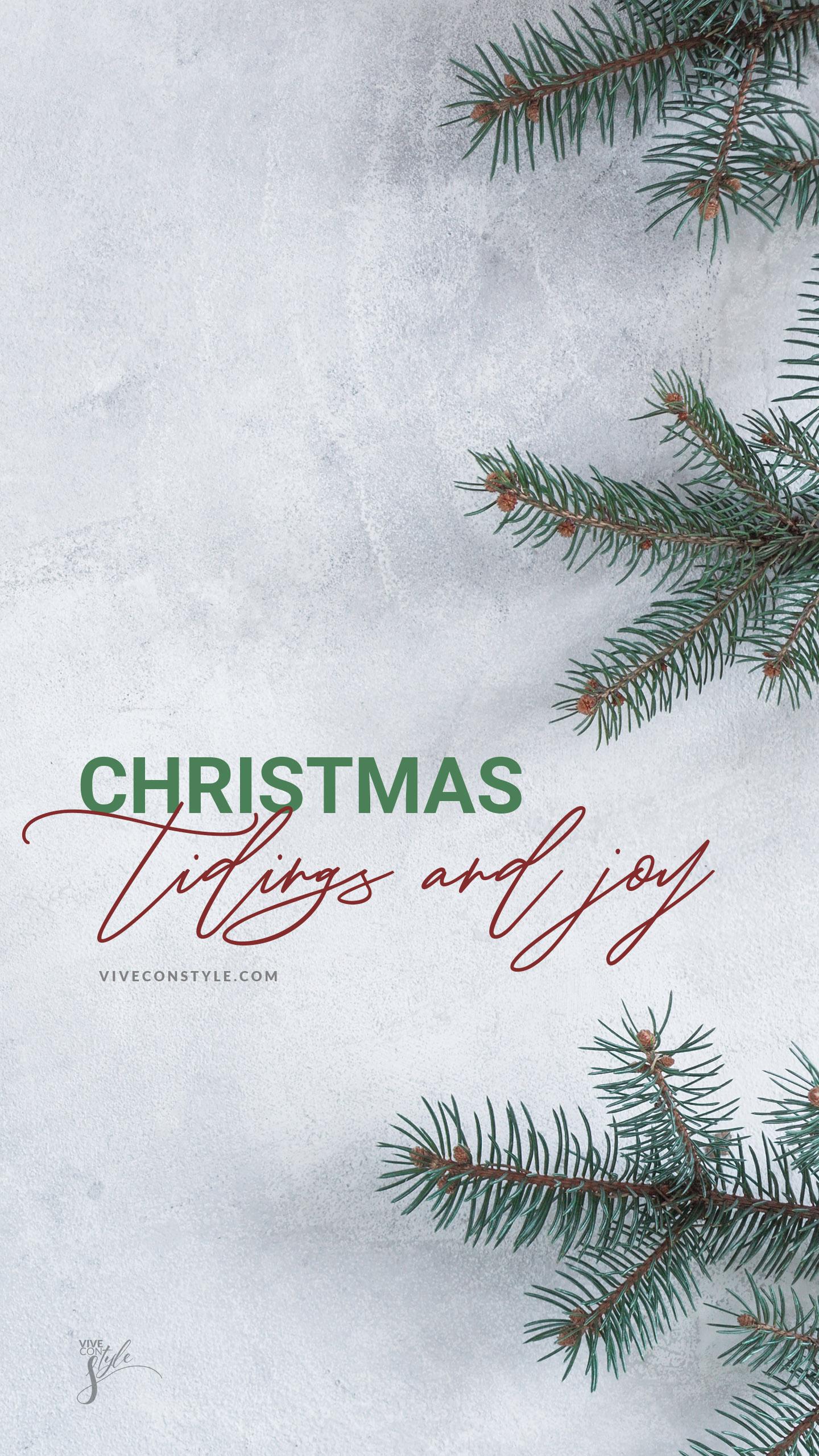 Christmas tidings and joy wallpaper