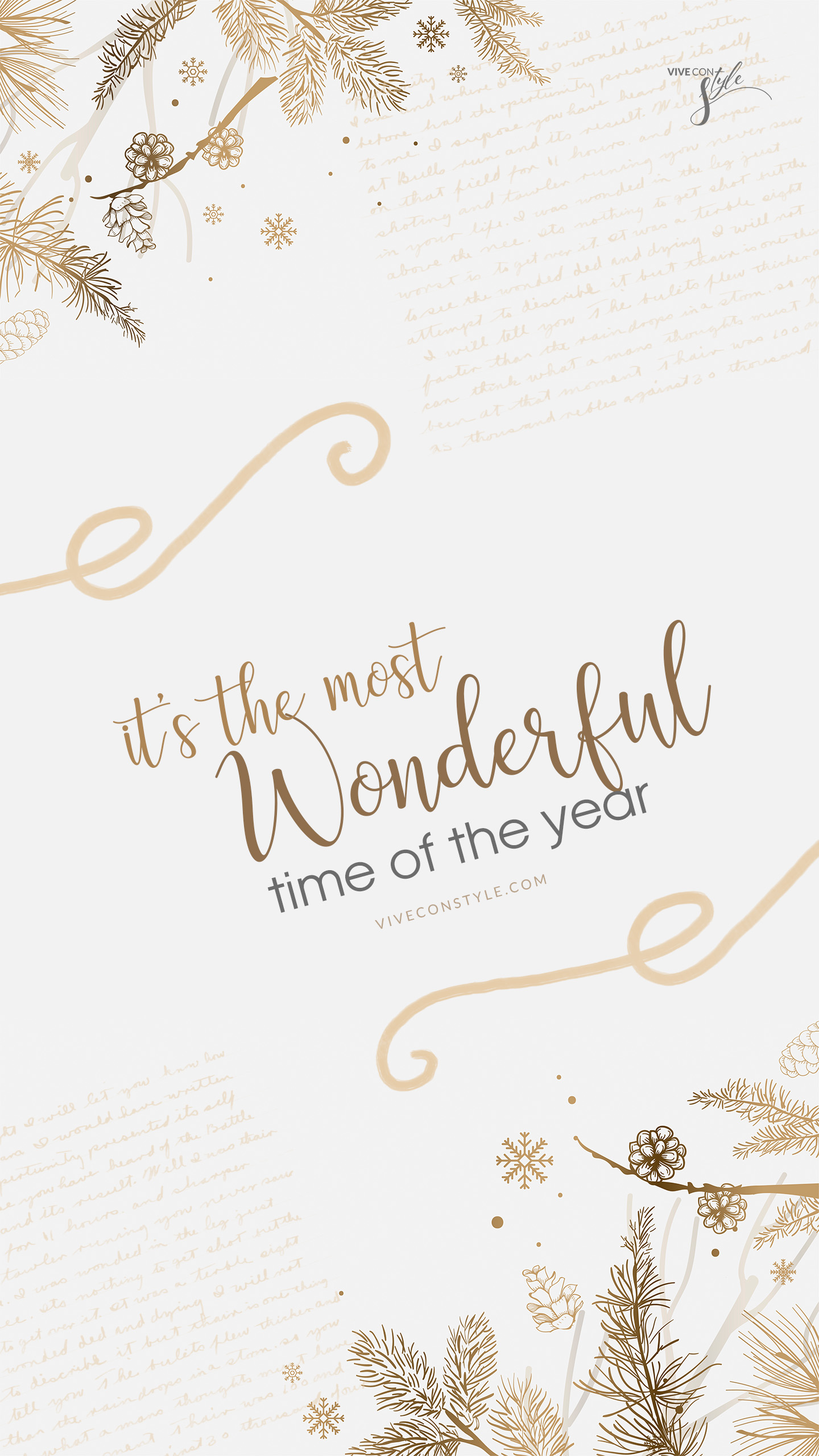 It's the most wonderful time Christmas wallpaper