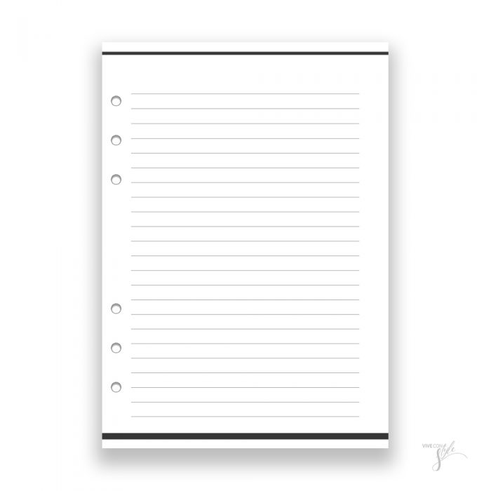 Planner Notes refill insert