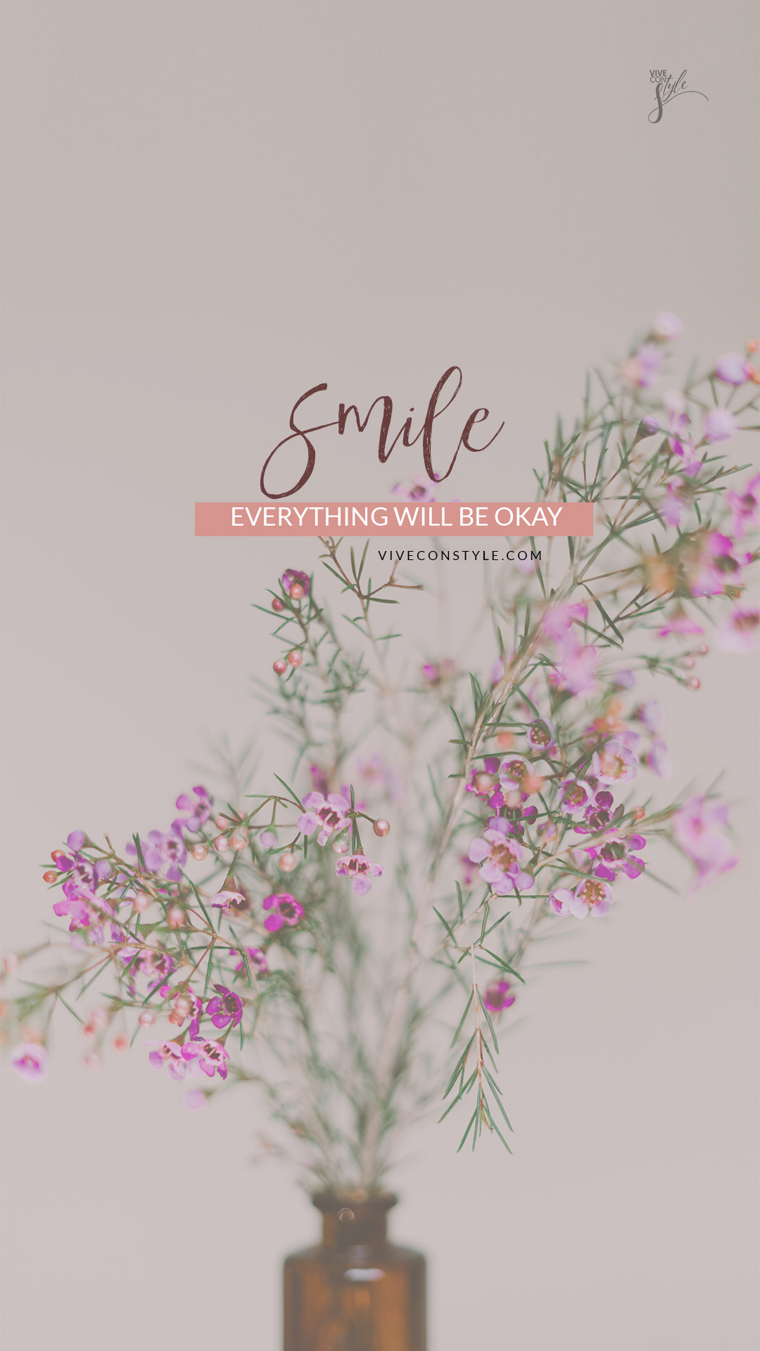 Smile everything will be okay mobile wallpaper for iphone and Android