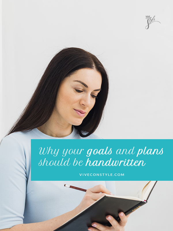 Why your goals should be handwritten