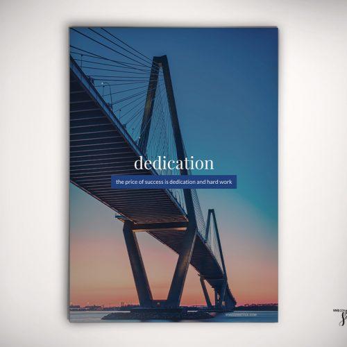 Dedication quote print