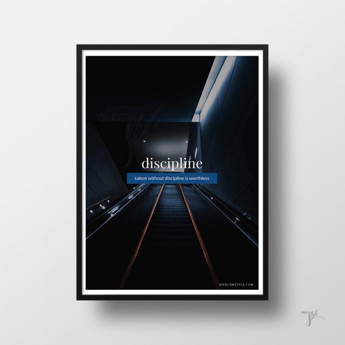 Discipline quote poster print