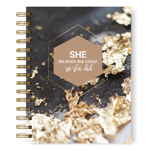 She believed she could notebook journal