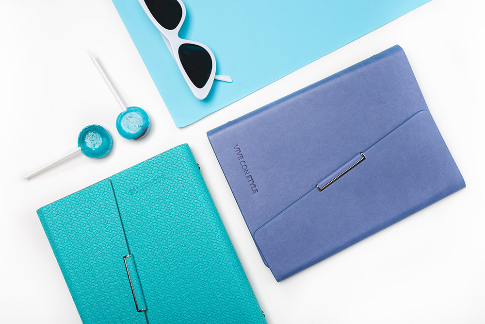 Blue and Aqua Audacious planner
