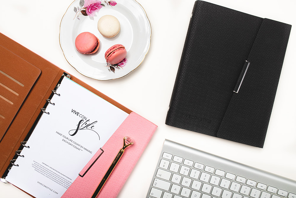 Pink and Black Audacious planner