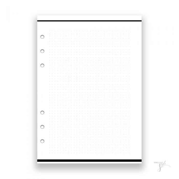 Dot grid bullet journal planner insert refill pages