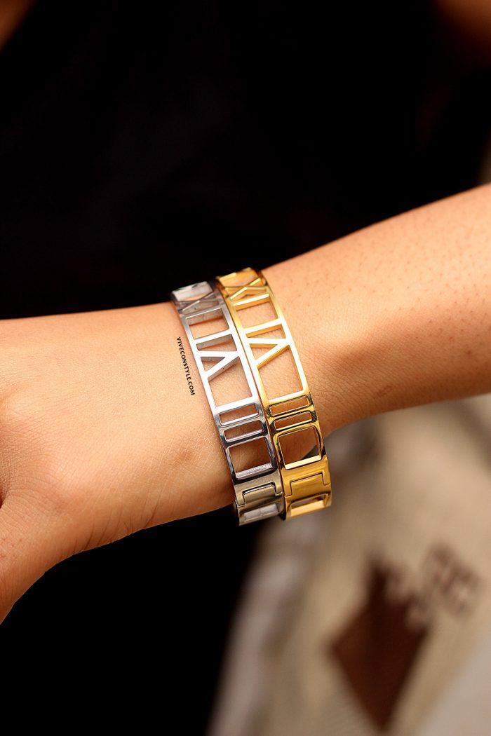 Nadia roman numeral bracelet