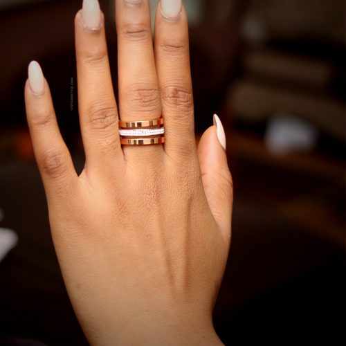 Orianna stacked ring rose gold