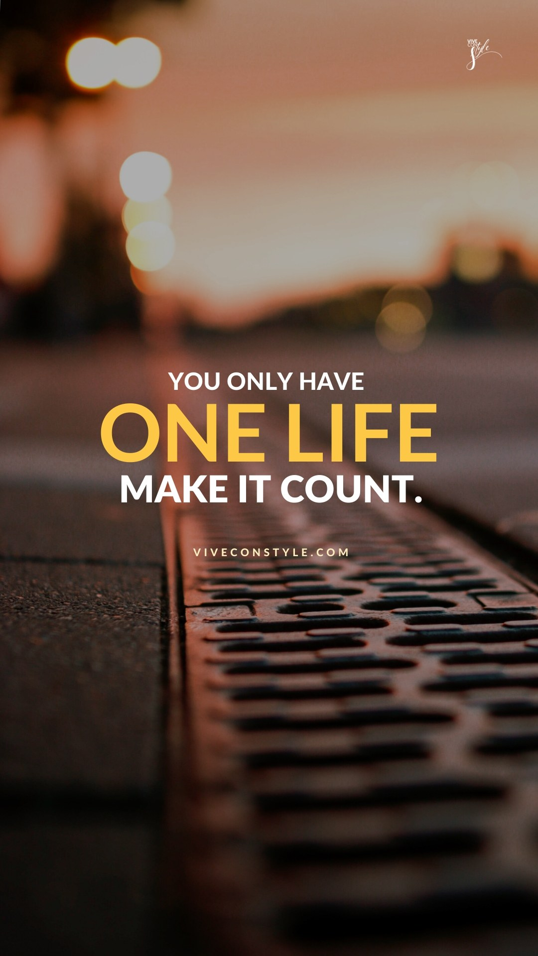 Make your life count mobile wallpaper