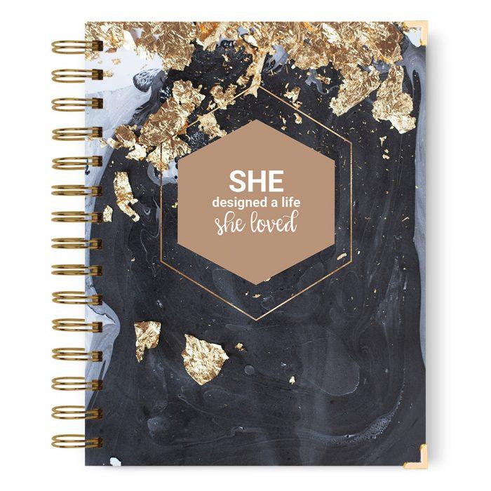 She designed a life she loved notebook journal