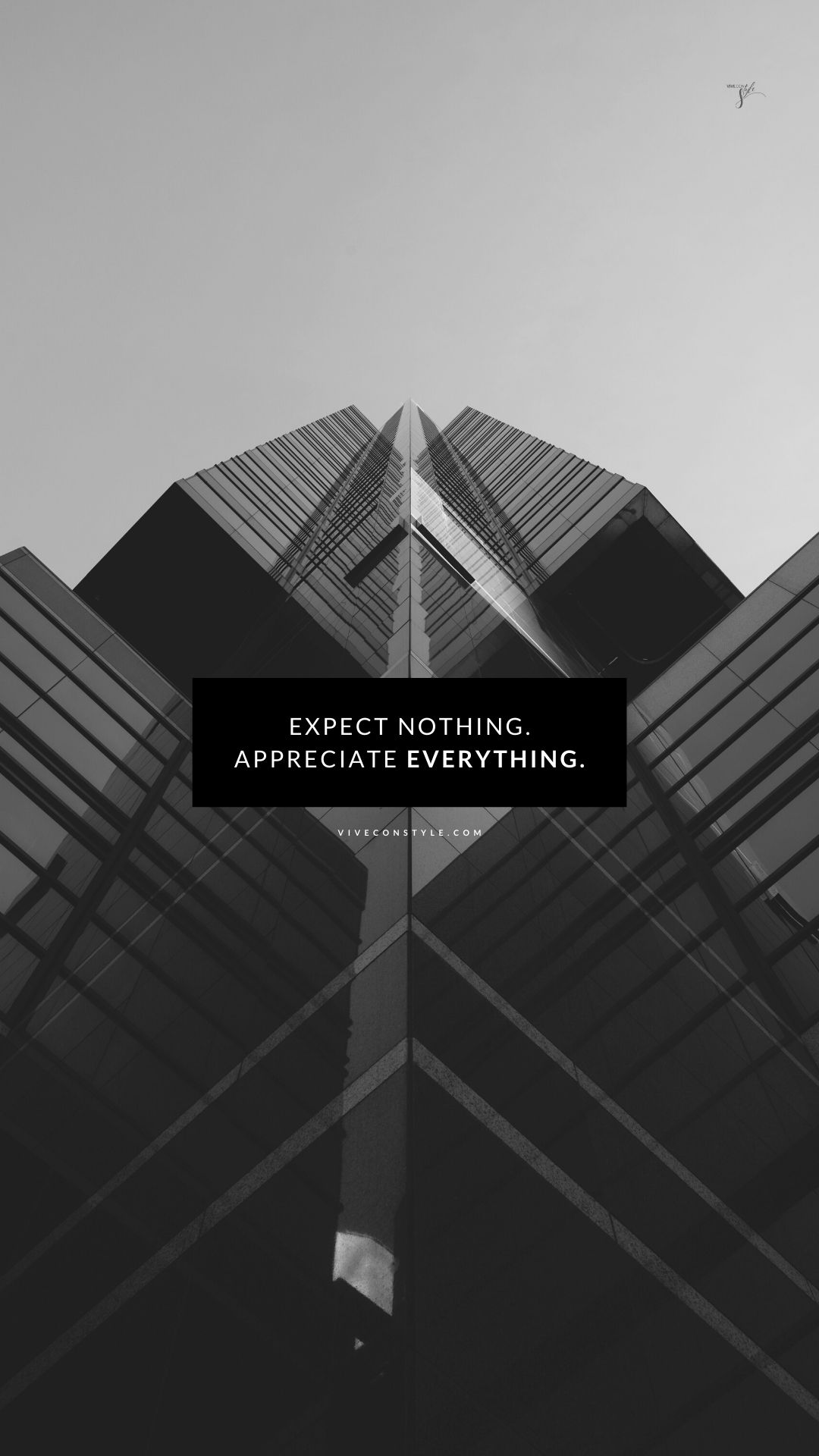 Expect nothing. Appreciate everything Free inspirational wallpaper