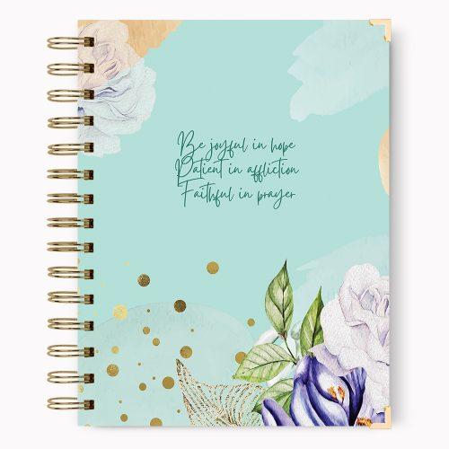 Be joyful in hope Christian Hardcover Notebook Journal