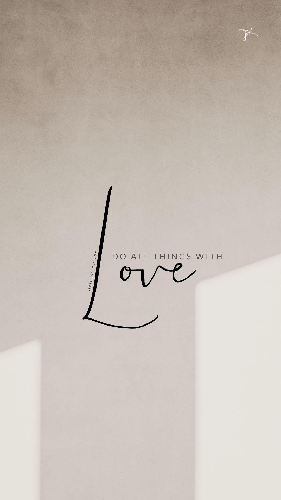 Do all things with love HD Wallpaper